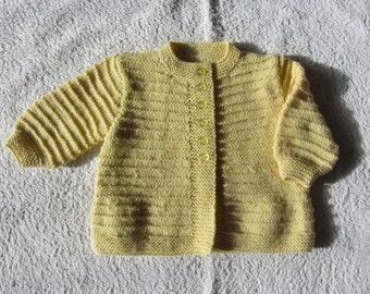 Baby's Pale Mustard Cardigan