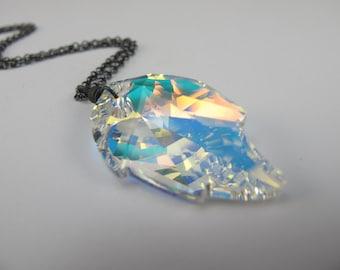 Swarovski Crystal Leaf Pendant