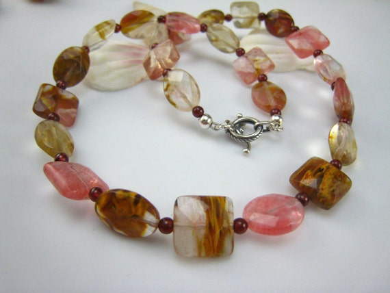 fire cherry quartz necklace