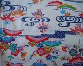 Vintage japanese children kimono 3-5 years cotton multicolors