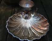 FREE Shipping - Antique Victorian Shell Serving Bowl c.1875 to 1909 - Levesley Brothers, LB, Silver Plated, Sheffield