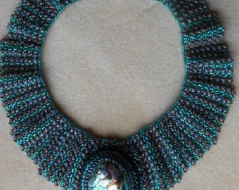 Ruffled Collar with Paua Shell