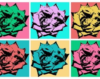 Roses - 5x7 Art Card - Pop Art Photography