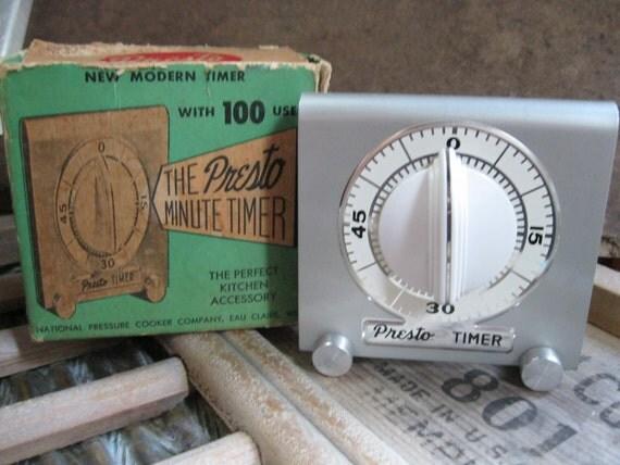 Vintage Presto Minute Timer with Box