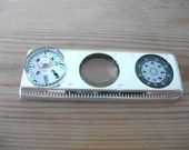 Tiffany & Co 925 Silver Ruler with Compass, Magnifying Glass and Thermometer with Original Dust Cover and Box