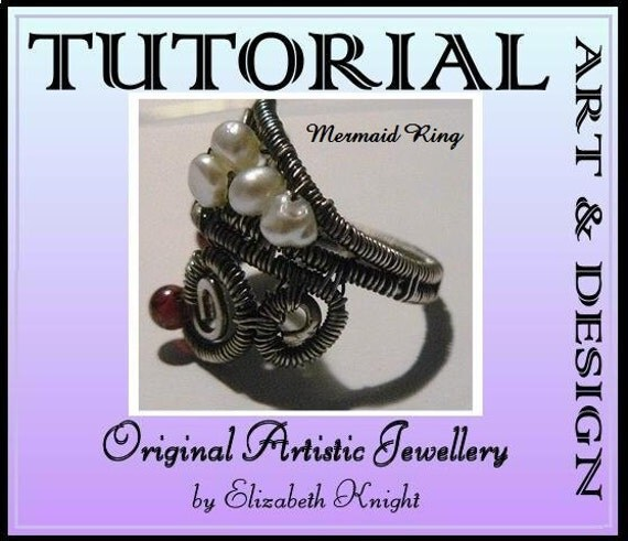 Step-by-Step Tutorial Wire Wrapping Mermaid Ring Instant Download