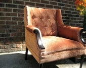 Tuft Bronze velvet chair