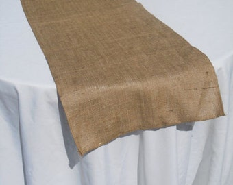 "Burlap Table Runners made in Canada- 14"" wide"
