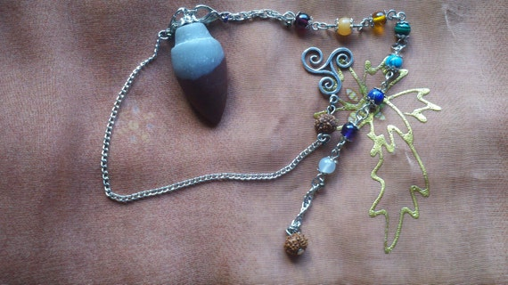 Shiva Lingham Pendulum with Silver Spiral and 2 chains