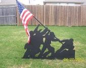 Iwo Jima Flag Raising Yard Art