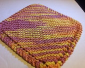 One Purple and Orange Variaged Dish Cloth