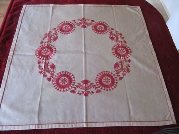 Beautiful swedish hand embroidered table cloth
