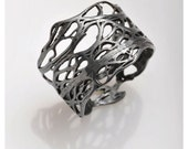 Black sterling silver ring.Oxidized LURI ring from the sabrawear collection.