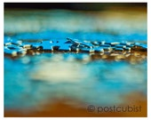 Blue Jigsaw Puzzle On Polished Table 8 x 10 photograph