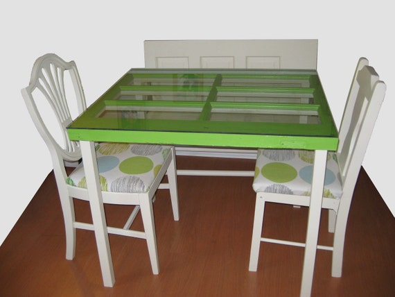 Green Breakfast Table- Upcycled