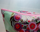 handmade oilcloth cosmetic bag