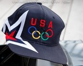 Team USA vintage Olympic Rings snapback Starter hat star embroidery