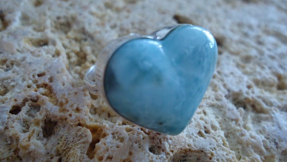 Larimar Hearth Ring Size 7 Adjustable as Request 1000005