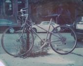 THE BICYCLE - expired polaroid 11x14 print