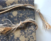 Bracelet braided braided cotton gold light gold and beige.