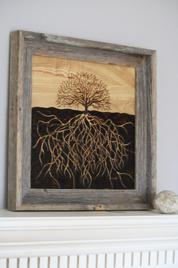 Tree Art with Exposed Roots