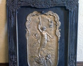"""1890s Beautiful Fireplace Insert. """"One of a Kind"""""""