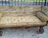 Industrial Rail Cart Couch Indoor/Outdoor
