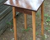 Walnut Display Table with oak legs