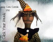 Primitive Candy Corn Corella witch pattern click your heels