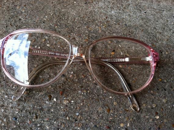 1960s Vintage pink eyewear glasses, retro eye glasses, eyewear frames, hippie 60s prescription glasses