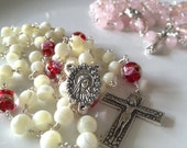 Mother of Pearl White Rosary