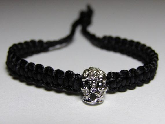 Skull Bracelet with rhinestones