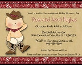 Baby Cowboy Shower Invitation - Customized for you