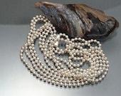 Sterling silver ball chain, 100cm long