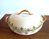 Vintage Collectible Limoges Covered Round Serving Bowl - 1909/1938