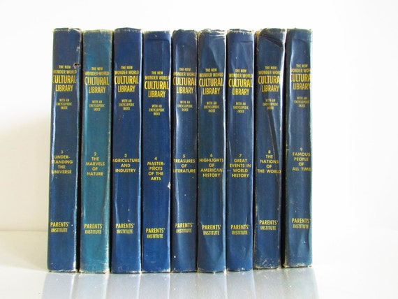 RESERVED - 1963 Vintage Decorative Blue Books Bundle Collection