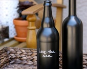 Chalkboard Paint Wine Bottles (Set of 2) - With customized wording and protective sealant