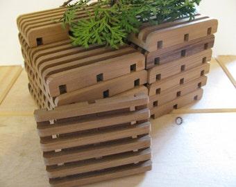 "Soap deck, Soap saver. 25 all natural western red cedar. 2 3/4"" x 3 3/4"""