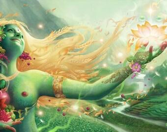 "Anapurnadevi - Limited Edition Giclee Canvas 24""x12"""
