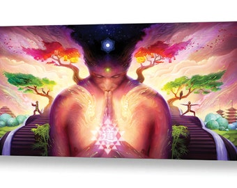 """Dao of Yoga - 24""""x12"""" - Limited Edition Giclee Edition"""