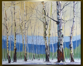 Landscape Print Fine Art Giclee Canvas Print from Original Oil Painting by Willson Lau STRETCHED & Ready To Hang