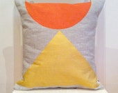 Egyptian Sunrise - in gold and mandarin - cushion insert included - wildly comfortable and gorgeously decorative cushions for your home