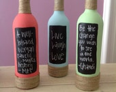Decorative Wine Bottles - Painted