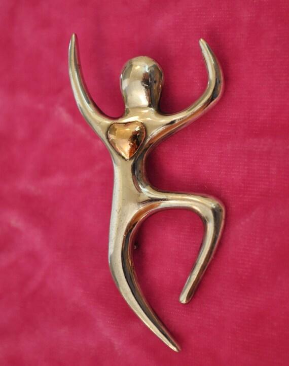 Vintage Sterling Silver Modern, Minimalist Figural Brooch / Pin
