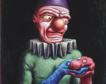 Lowbrow Pop surrealism limited edition art print by Pete Gorski titled: The Uniter