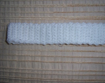 Hand made crochet hairband/headband for baby - choice of white or ivory - ready for you to decorate