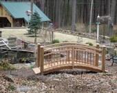 Arched Garden Foot Bridge in Vermont White Cedar