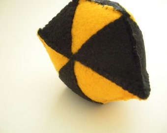 Black and Yellow Geometric Ornament