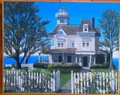 Practical Magic House - Printed onto Canvas From the Original Painting