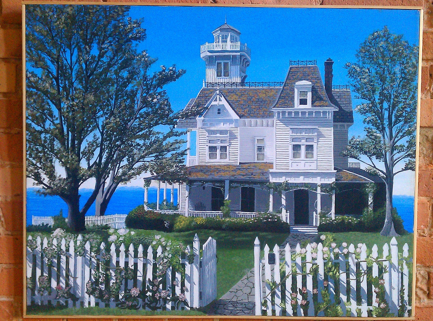 Practical Magic House Printed Onto Canvas From The Original
